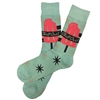 The School of Sock - The Chill Out Teal, Pink and Black Novelty Sock