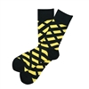 Sock 101 - The CureSearch for Children's Cancer Black and Yellow Charity Sock