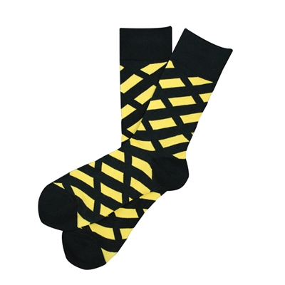 The School of Sock - The CureSearch for Children's Cancer Black and Yellow Charity Sock