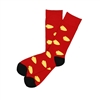 The School of Sock - The Derrick Red and Yellow Arrowhead Sock