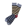 The School of Sock - The Eric Navy, Blue and Maroon Stripe Sock