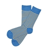 Sock 101 - The Foster Blue and Tan Striped Sock