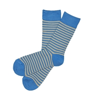 The School of Sock - The Foster Blue and Tan Striped Sock