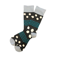 The School of Sock - The Freddy Teal, Navy and White Polka Dot Sock
