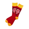 The School of Sock - The Sunday Funday Red and Yellow Kansas City Sock