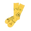 The School of Sock - The Funk Yellow and Black Retro Cassette Tape Sock