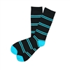 The School of Sock - The Harrison Black and Blue Stripe Sock