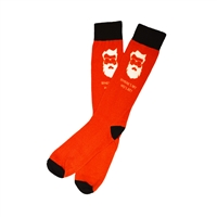 The School of Sock - The Where my Hos At? Red and White Christmas Santa Sock