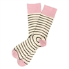 The School of Sock - The Hubler White, Pink and Black Spiral Sock (Design Contest Winner)