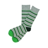 Sock 101 - The Hunter Gray, Green and Hunter Striped Sock