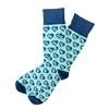 The School of Sock - The I Heart KC Blue Kansas City Sock