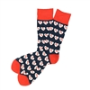 The School of Sock - I Heart KC Navy and Red Kansas City Sock