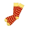The School of Sock - I Heart KC Red and Yellow Kansas City Sock