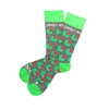 The School of Sock - The Jake Can Green, Gray and Red Shamrock Charity Sock