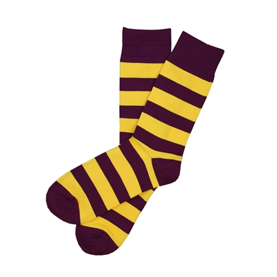The School of Sock - The James Purple and Yellow Striped Sock