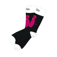 The School of Sock - The Jazzoo Kansas City Zoo Pink and Black Penguin Sock