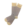 The School of Sock - The Joe Tan, Blue and Maroon Stripe Sock