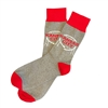 The School of Sock - The Kansas City Western Auto Sign Gray, Red and White Sock