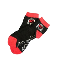 The School of Sock - The Kansas City Black, Red and White Fuzzy Sock