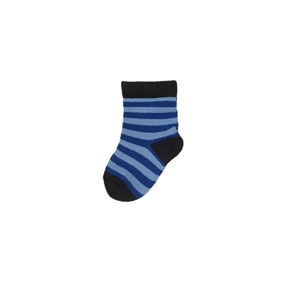 Sock 101 - The KC Royal Blue and Light Blue Striped Kids Sock