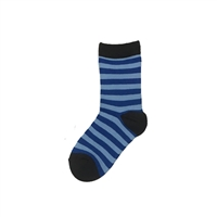 The School of Sock - The KC Royal Blue and Light Blue Striped Kids Sock