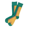 The School of Sock - The Kim Teal and Yellow Vertical Striped Sock (Design Contest Winner)