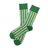 The School of Sock - The Kirk Green, White and Navy Big and Tall Sock