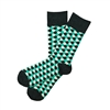 Sock 101 - The Kyle Charcoal, Teal and Cream Honeycomb Sock