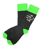 The School of Sock - The Get Shit Done Black, White and Green Saying Big and Tall Sock