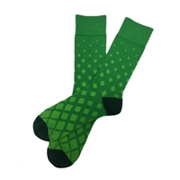 The School of Sock - The Lenny Forest and Kelly Green Diamond Sock