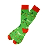 The School of Sock - The Let's Get Lit Green, Red and White Christmas Lights Sock