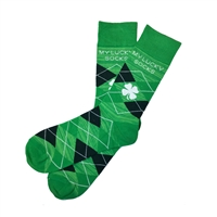The School of Sock - The Lucky Irish Green and Navy Shamrock Sock