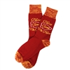The School of Sock - The Home Sweet Mahomes KC Red and Yellow Kansas City Sock