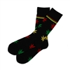 The School of Sock - The The Marley Black, Green, Red and Yellow Weed Sock