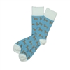 The School of Sock - The Millie Blue, Brown and White Wiener Dog Sock
