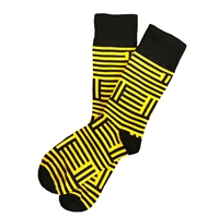 The School of Sock - The Miz Yellow and black Missouri Mizzou Sock