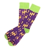 The School of Sock - The Nick Purple, Orange and Lime Green Sock