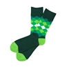 The School of Sock - The Norman Green, Hunter and Lime Diamond Sock