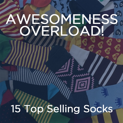 Sock 101 - The Awesomeness Overload Package of Socks - Multiple Designs