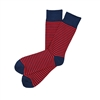 Sock 101 - The Porter Navy and Red Striped Sock