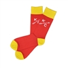 The School of Sock - The Reid KC Red and Yellow Kansas City Sock