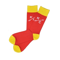 Sock 101 - The Reid KC Red and Yellow Kansas City Sock