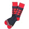The School of Sock - The Richard Navy, Blue, Red and White Argyle America Sock
