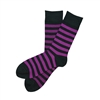 The School of Sock - The Richmond Black and Purple Striped Sock