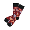 The School of Sock - The Riley Maroon, Orange and Blue Paisley Sock