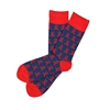 The School of Sock - The SAVE, Inc. Navy and Red Ribbon Charity Sock