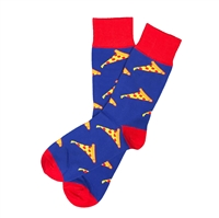 The School of Sock - The Slice of Heaven Blue, Red and Yellow Pizza Sock