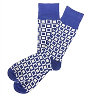 The School of Sock - The Stanley Blue and Gray Square Sock