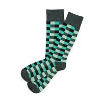 Sock 101 - The Taylor Green Tone on Tone and Charcoal Checkered Sock