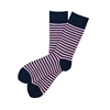 Sock 101 - The Thomas Pink and Navy Striped Sock